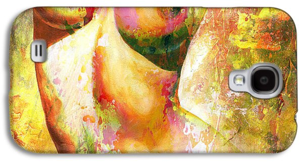 Recently Sold -  - Abstract Digital Digital Galaxy S4 Cases - Nude details - Digital vibrant color version Galaxy S4 Case by Emerico Imre Toth