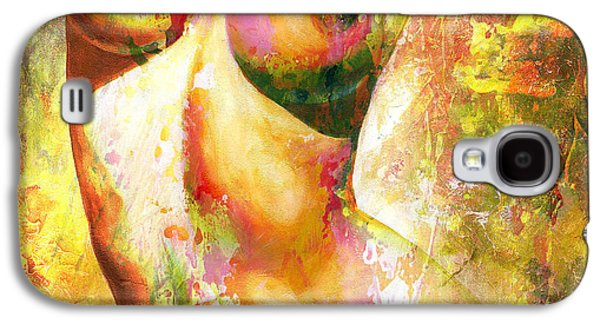 Modern Abstract Galaxy S4 Cases - Nude details - Digital vibrant color version Galaxy S4 Case by Emerico Imre Toth