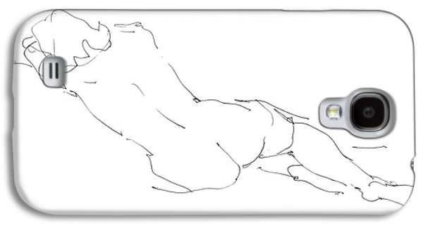 Figure Drawing Galaxy S4 Cases - Nude Female Drawings 9 Galaxy S4 Case by Gordon Punt