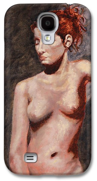 Shelley Irish Galaxy S4 Cases - Nude French Woman Galaxy S4 Case by Shelley  Irish