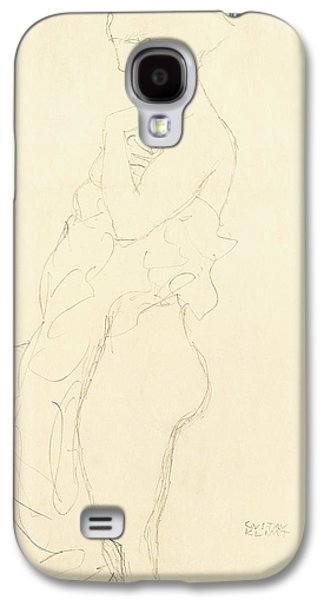 Bathroom Prints Galaxy S4 Cases - Nude Galaxy S4 Case by Gustav Klimt