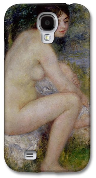Nudes Paintings Galaxy S4 Cases - Nude in a Landscape Galaxy S4 Case by Pierre Auguste Renoir