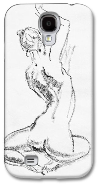 Abstract Forms Drawings Galaxy S4 Cases - Nude Model Gesture V Galaxy S4 Case by Irina Sztukowski