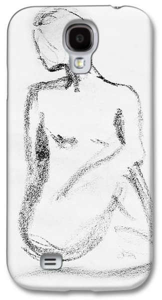 Abstract Forms Drawings Galaxy S4 Cases - Nude Model Gesture VI Galaxy S4 Case by Irina Sztukowski
