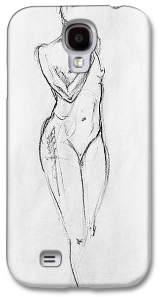 Abstract Forms Drawings Galaxy S4 Cases - Nude Model Gesture VIII Galaxy S4 Case by Irina Sztukowski