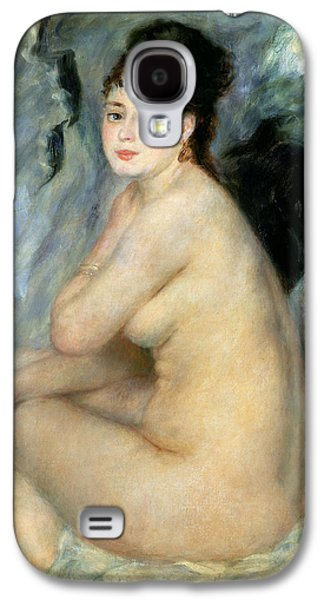 Nude Or Nude Seated On A Sofa 1876 Galaxy S4 Case by Pierre Auguste Renoir