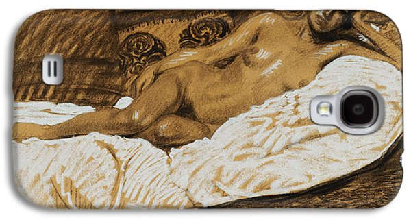 Nudes Pastels Galaxy S4 Cases - Nude Outstretched Galaxy S4 Case by Theophile Alexandre Steinlen
