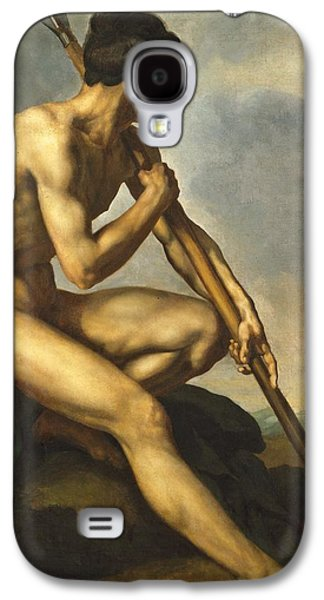 Male Paintings Galaxy S4 Cases - Nude Warrior with a Spear Galaxy S4 Case by Theodore Gericault