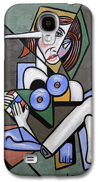 Nude Digital Galaxy S4 Cases - Nude Woman With Rubiks cube Galaxy S4 Case by Anthony Falbo