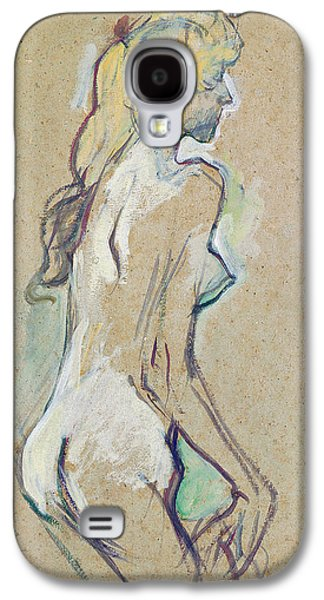 Girl Pastels Galaxy S4 Cases - Nude Young Girl Galaxy S4 Case by Henri de Toulouse-Lautrec