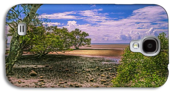Digital Pyrography Galaxy S4 Cases - Nudgee Beach Queensland  Australia Galaxy S4 Case by Donah Beckhouse