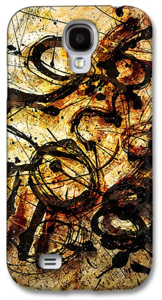 Colorful Abstract Digital Galaxy S4 Cases - Numbrz Galaxy S4 Case by Gary Bodnar