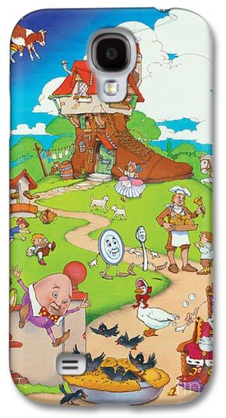 Nursery Rhyme Galaxy S4 Cases - Nursery Rhymes Galaxy S4 Case by Irvine Peacock