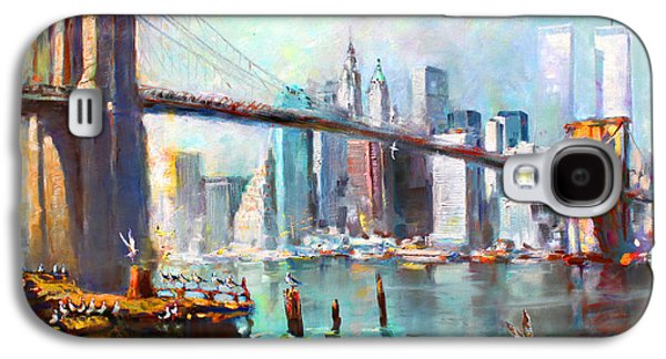 Bridge Galaxy S4 Cases - NY City Brooklyn Bridge II Galaxy S4 Case by Ylli Haruni