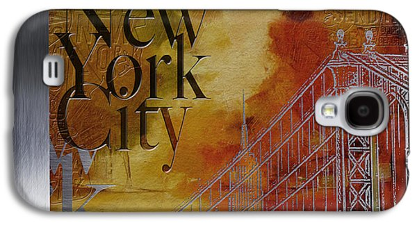 Cities Paintings Galaxy S4 Cases - NY City Collage - 6 Galaxy S4 Case by Corporate Art Task Force
