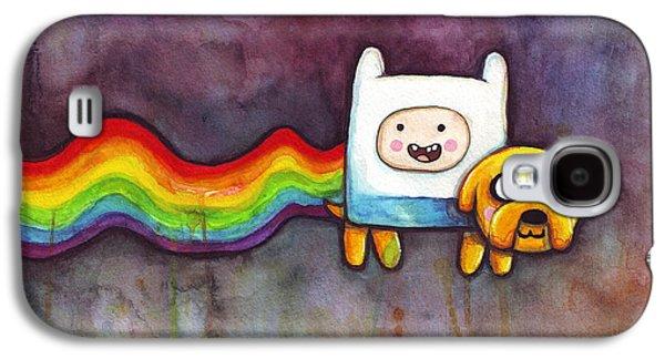 Nyan Time Galaxy S4 Case by Olga Shvartsur