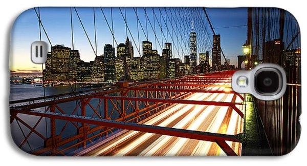 Trade Galaxy S4 Cases - NYC Brooklyn Bridge Galaxy S4 Case by Nina Papiorek