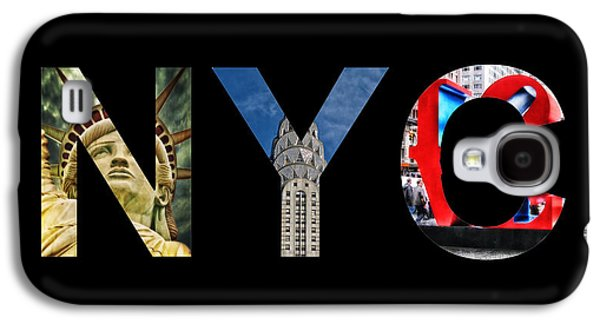 Financial Mixed Media Galaxy S4 Cases - Nyc  Galaxy S4 Case by Celestial Images