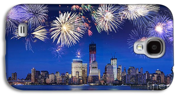 Freedom Party Galaxy S4 Cases - NYC fireworks Galaxy S4 Case by Delphimages Photo Creations
