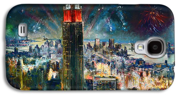 Nyc In Fourth Of July Independence Day Galaxy S4 Case by Ylli Haruni
