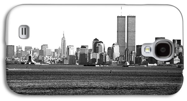 Twin Towers Nyc Galaxy S4 Cases - NYC Skyline 1990s Galaxy S4 Case by John Rizzuto