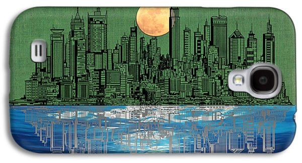 Skylines Mixed Media Galaxy S4 Cases - NYC Skyline Galaxy S4 Case by Adam Asar