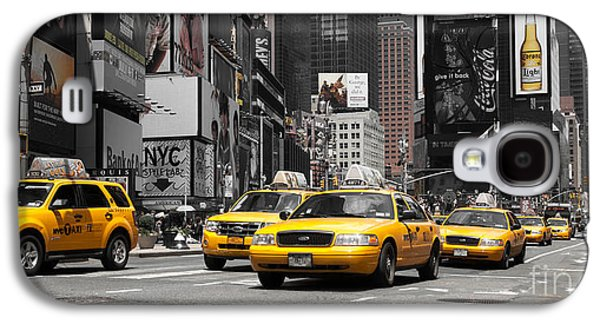 Manhatten Galaxy S4 Cases - NYC Yellow Cabs - ck Galaxy S4 Case by Hannes Cmarits