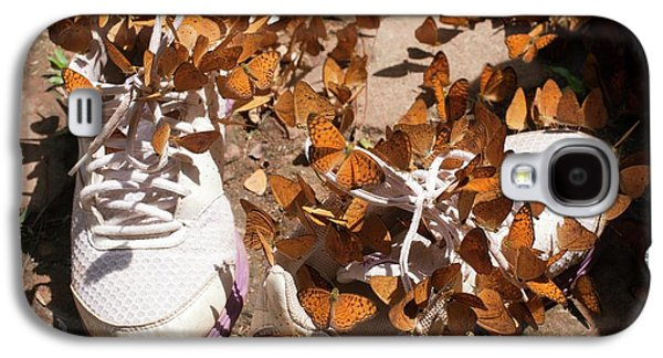 Nymphalid Butterflies Salt Puddle Feeding Galaxy S4 Case by Paul D Stewart
