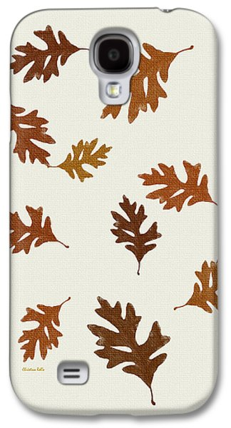 Abstracts Galaxy S4 Cases - Oak Leaves Art Galaxy S4 Case by Christina Rollo