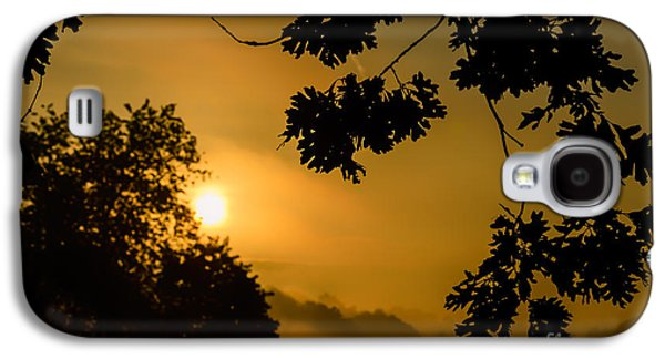 Colorful Cloud Formations Galaxy S4 Cases - Oak Leaves Sunrise and Fog Galaxy S4 Case by Thomas R Fletcher