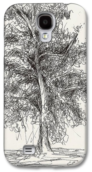 Hand Drawn Galaxy S4 Cases - Oak Tree Galaxy S4 Case by Elise Palmigiani