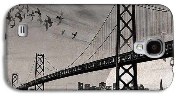 The View Mixed Media Galaxy S4 Cases - Oakland Bay Bridge Galaxy S4 Case by Cori Pillows