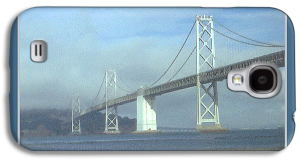 Suspension Drawings Galaxy S4 Cases - Oakland Bay Bridge - San Francisco Poster Art Galaxy S4 Case by Peter Fine Art Gallery  - Paintings Photos Digital Art
