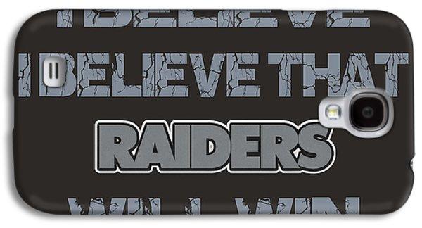 Oakland Photographs Galaxy S4 Cases - Oakland Raiders I Believe Galaxy S4 Case by Joe Hamilton