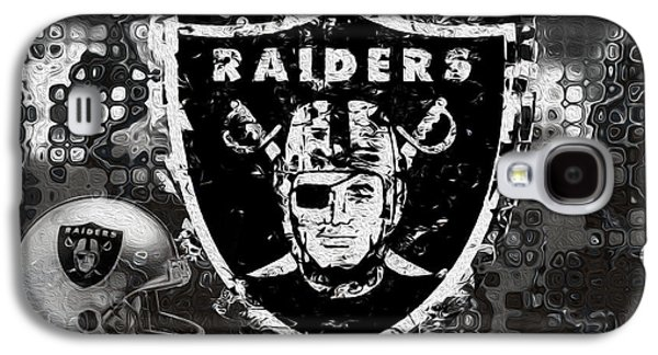Pro Football Galaxy S4 Cases - Oakland Raiders Galaxy S4 Case by Jack Zulli