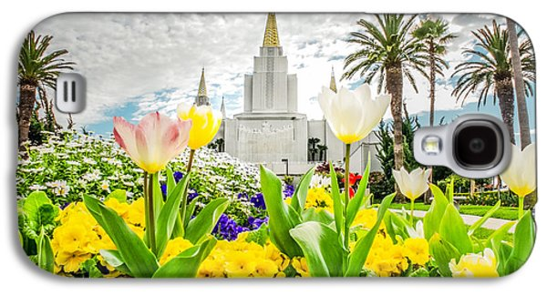 Oakland Photographs Galaxy S4 Cases - Oakland Temple White Tulips Galaxy S4 Case by La Rae  Roberts