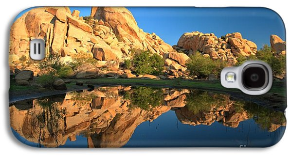 Trees Reflecting In Water Galaxy S4 Cases - Oasis Reflections Galaxy S4 Case by Adam Jewell