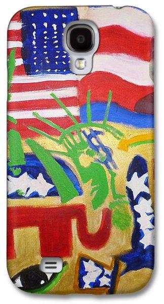 Barack Obama Galaxy S4 Cases - Obama 09 Galaxy S4 Case by Lonzo Lucas Jr