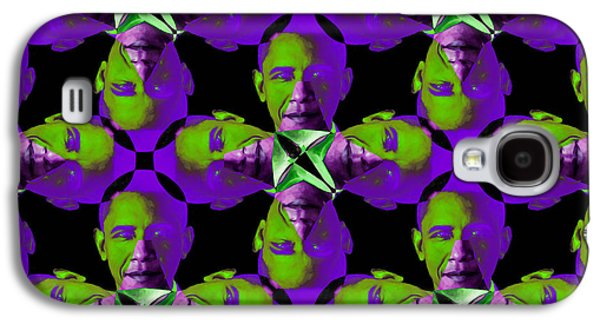 President Obama Galaxy S4 Cases - Obama Abstract 20130202m88 Galaxy S4 Case by Wingsdomain Art and Photography