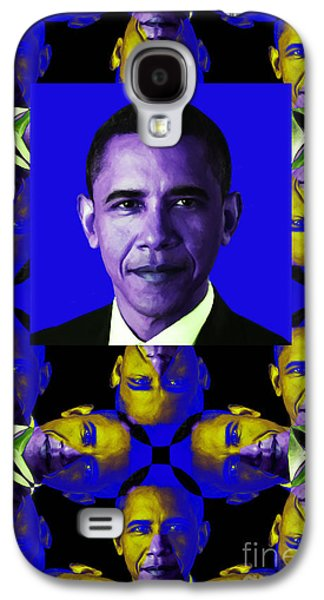 Barack Obama Galaxy S4 Cases - Obama Abstract Window 20130202verticalm118 Galaxy S4 Case by Wingsdomain Art and Photography