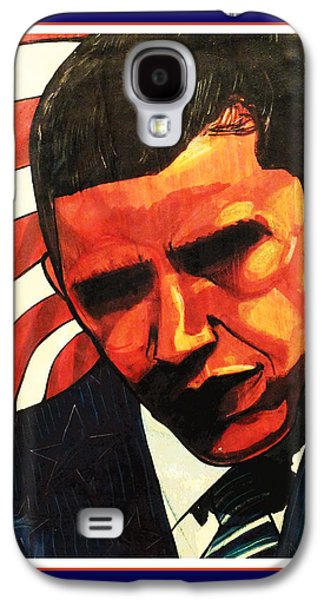 44th President Galaxy S4 Cases - Obama Galaxy S4 Case by Boze Riley