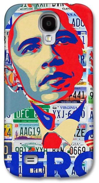 Democracy Paintings Galaxy S4 Cases - Obama Hero Galaxy S4 Case by Lanjee Chee