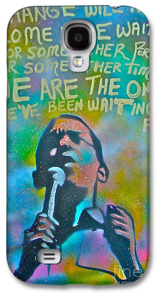 Michelle Obama Paintings Galaxy S4 Cases - Obama In Living Color Galaxy S4 Case by Tony B Conscious