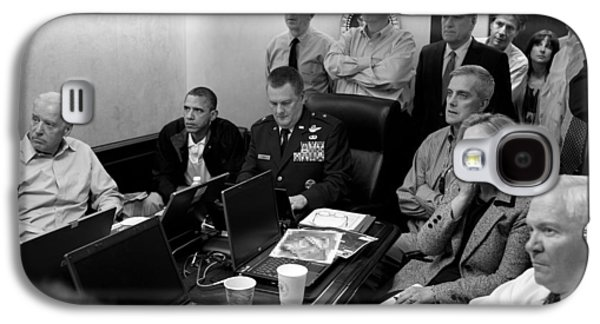 Obama In White House Situation Room Galaxy S4 Case by War Is Hell Store