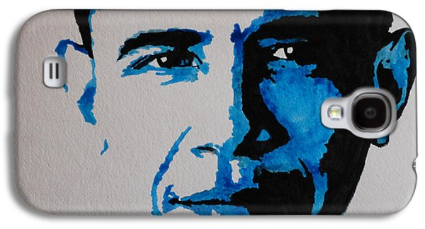 Barack Obama Mixed Media Galaxy S4 Cases - Obama. Galaxy S4 Case by Nancy Mergybrower