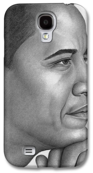 Barack Obama Drawings Galaxy S4 Cases - Obama Galaxy S4 Case by Ron Watson