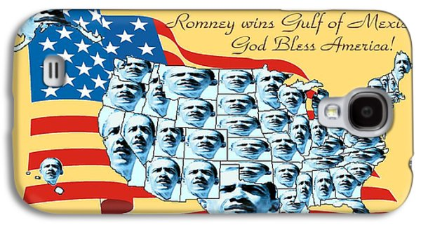 Barack Obama Mixed Media Galaxy S4 Cases - Obama Victory Map America 2012 - Poster Galaxy S4 Case by Art America - Art Prints - Posters - Fine Art