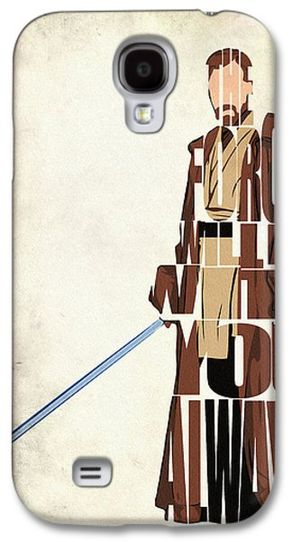 Drawing Galaxy S4 Cases - Obi-Wan Kenobi - Ewan McGregor Galaxy S4 Case by Ayse Deniz