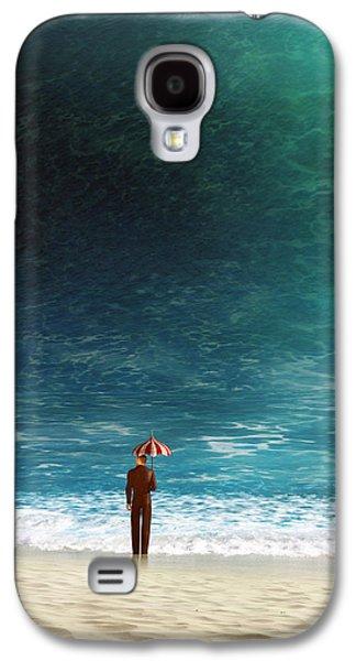 Waves Digital Art Galaxy S4 Cases - Oblivious Galaxy S4 Case by Cynthia Decker