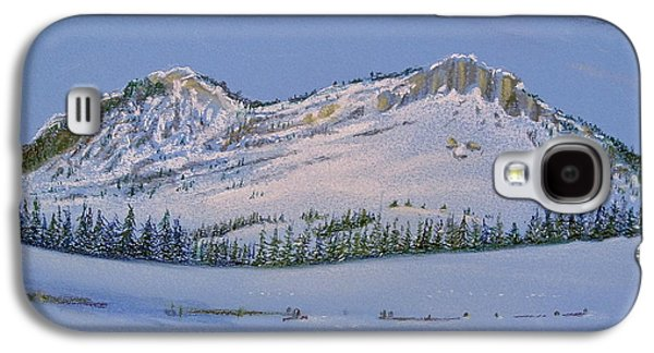 Snow-covered Landscape Pastels Galaxy S4 Cases - Observation Peak Galaxy S4 Case by Michele Myers